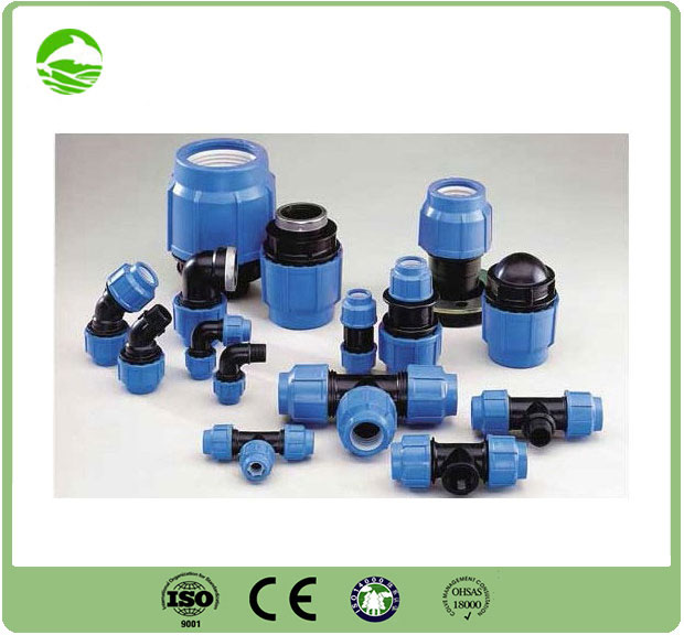 PP compression joints with flange adaptors