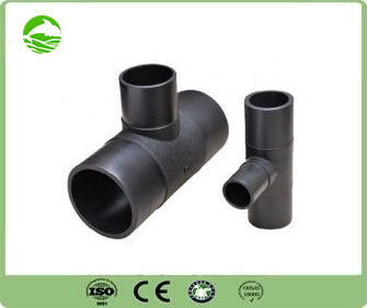 Injection moulded butt fusion HDPE Reducer tee