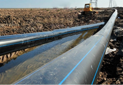 Application of large diameter HDPE pipe in water supply